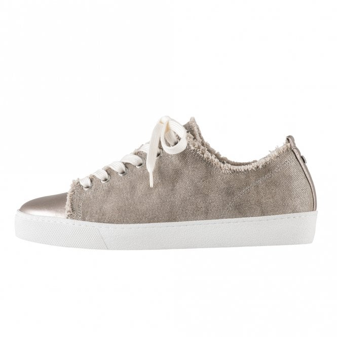 Högl 7-10 0358 Cotton Club Lace Up Canvas Sneakers in Taupe