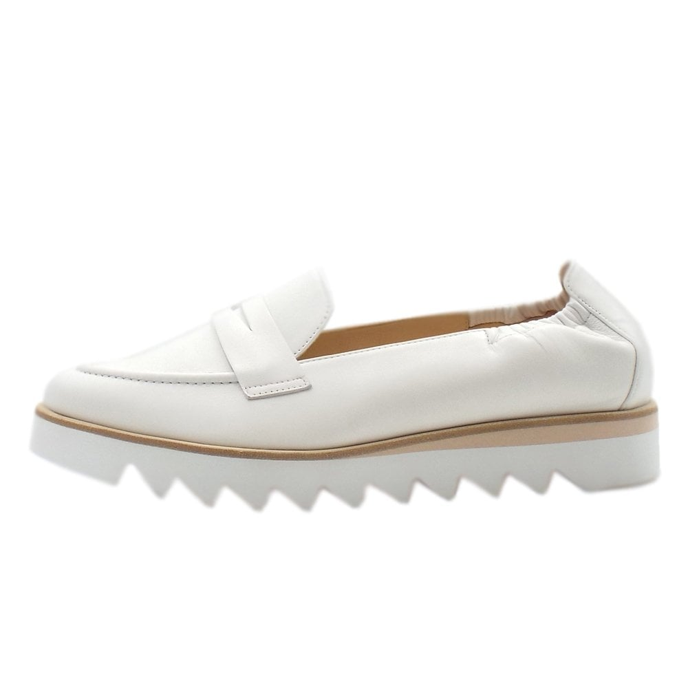 58da62ba6d3ef 7-10 0800 Edgy Slip On Loafer Shoes in White