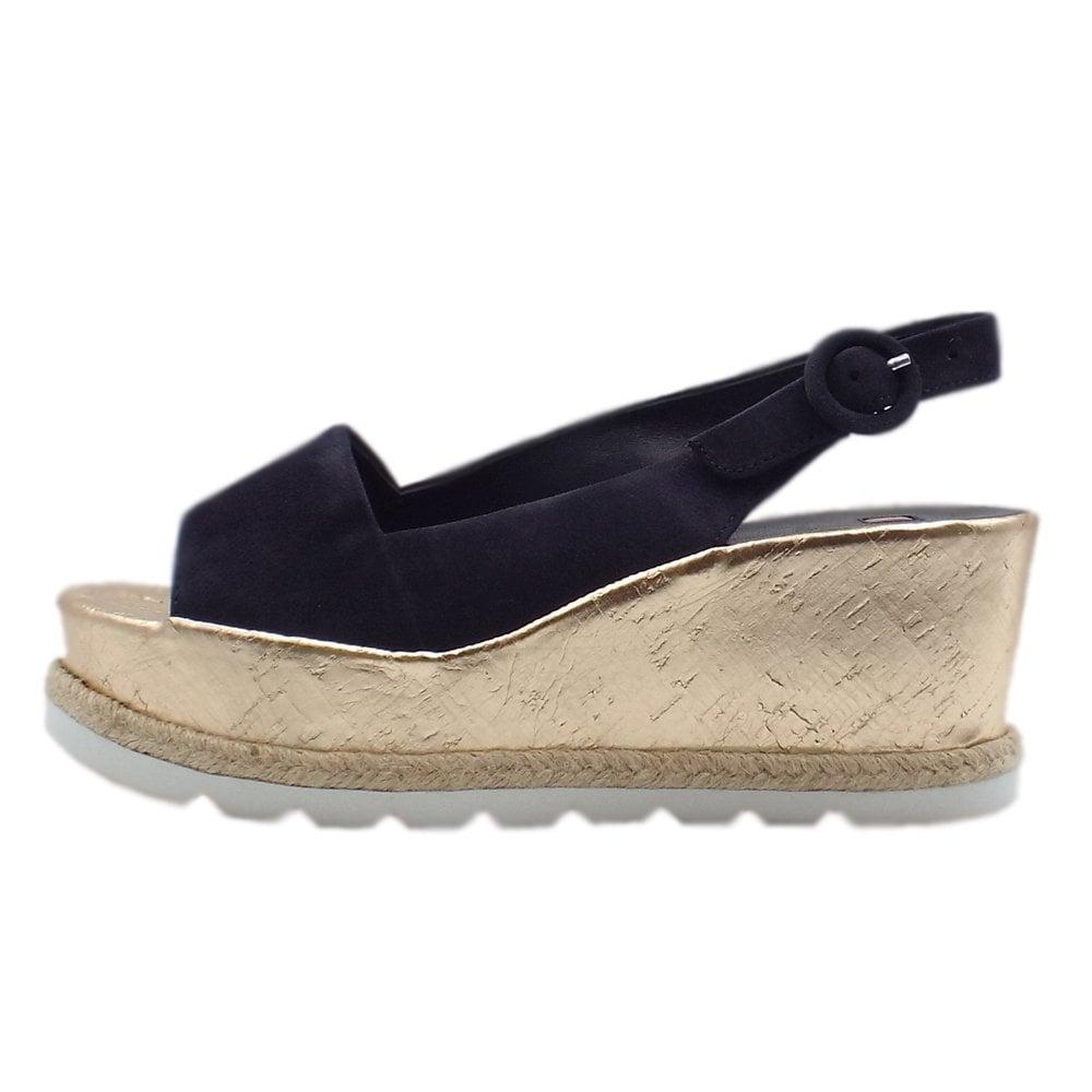849f677b115b2 7-10 3242 Corded Platform Wedge Sandals in Navy Suede