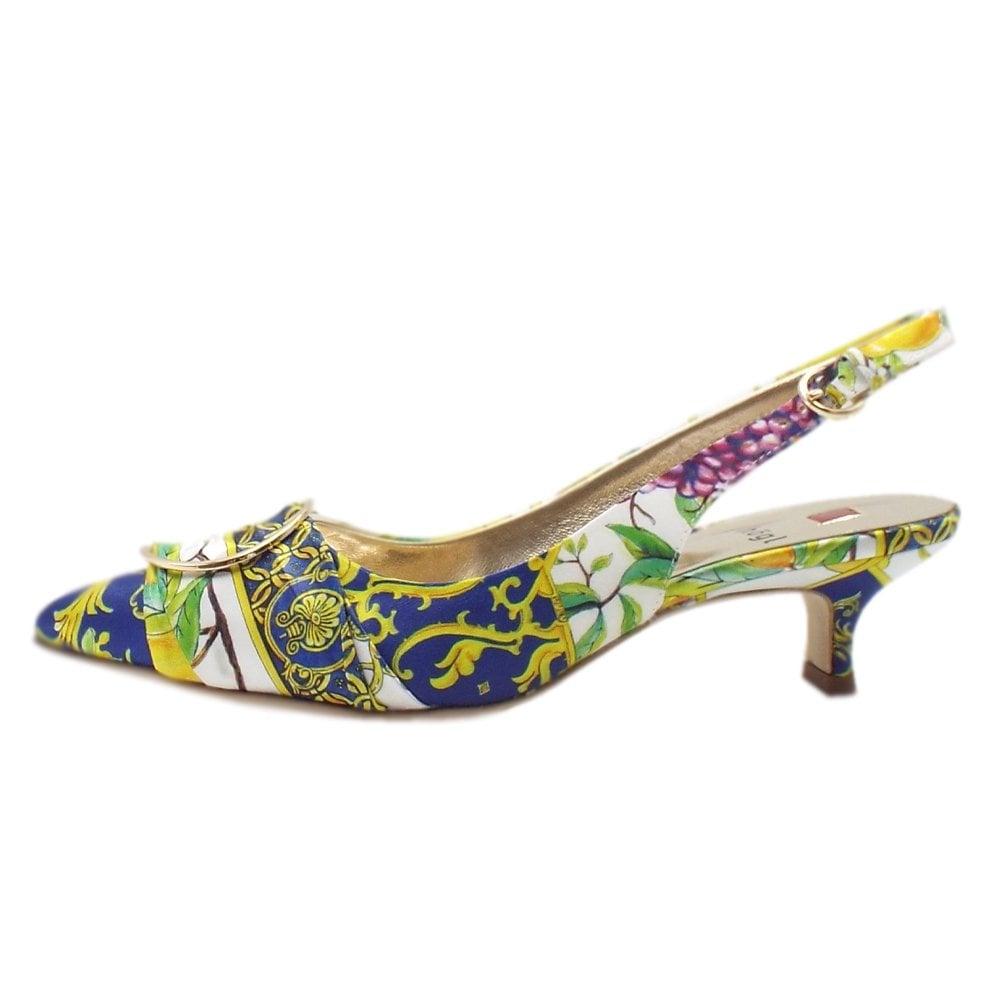 Heel Shoes 7 Kitten Positano Multi Amalfi Stylish In 10 4738 eYbDH9EIW2