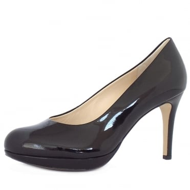 Alpraham Women's Classic High Heel Court Shoes in Black Patent