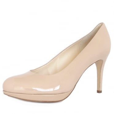 Högl Alpraham Women's Classic High Heel Court Shoes in Nude Patent