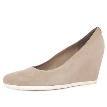 Högl Beeston Women's Sporty High Wedge Pumps in Smoke Suede