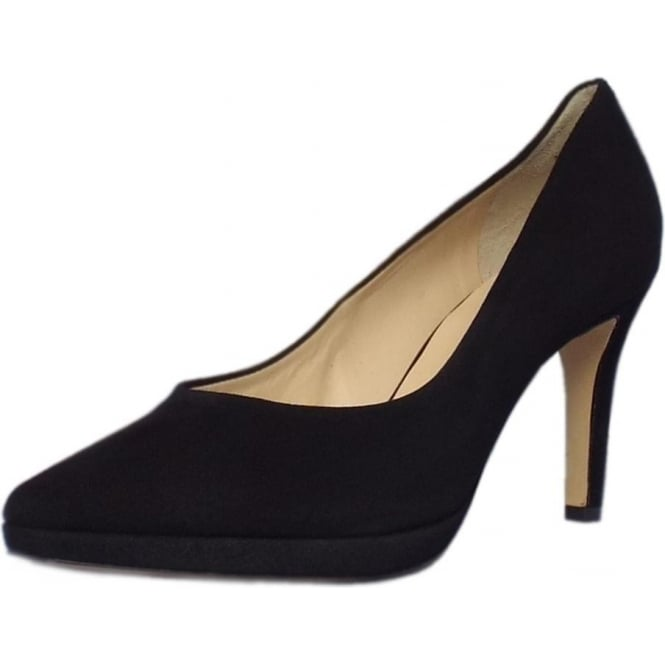 Högl Broxton 7702 Women's Classic High Heel Court Shoes in Black Suede