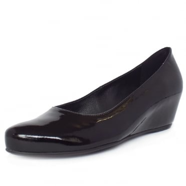 "Högl Hanover 0-104204 ""Butterlight"" Hidden Wedge Pumps in Black Patent"