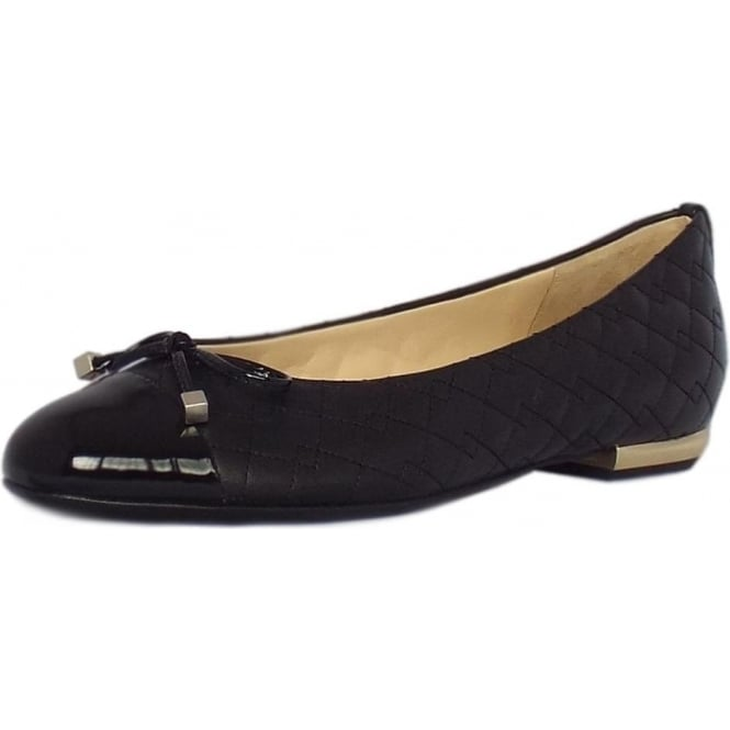 208e57a6b Hogl | Kelsall Womens Ballet Pumps in Black Leather | Mozimo