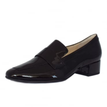 Wordsworth Smart Loafer Shoes in Black Patent