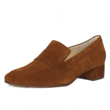 Wordsworth Smart Loafer Shoes in Toffee Suede