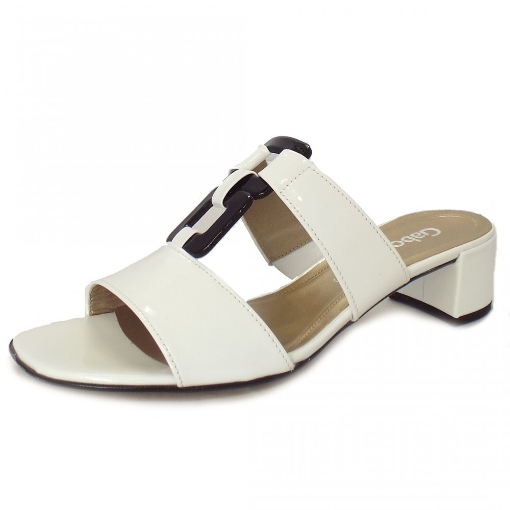Gabor Sandals Haddie Black And White Patent Dressy