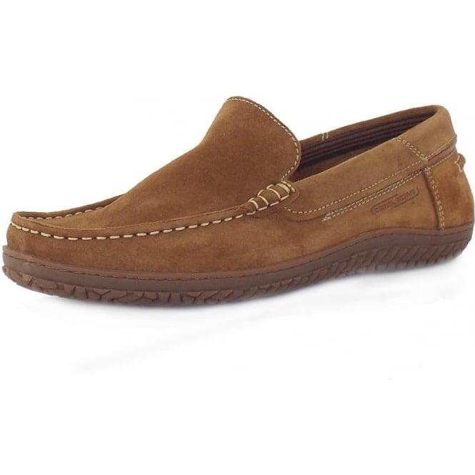 Laufschuhe Top Marken gut aussehen Schuhe verkaufen Camel Active Hamble St. Tropez Men's Casual Driving Shoes in Brandy Oiled  Suede