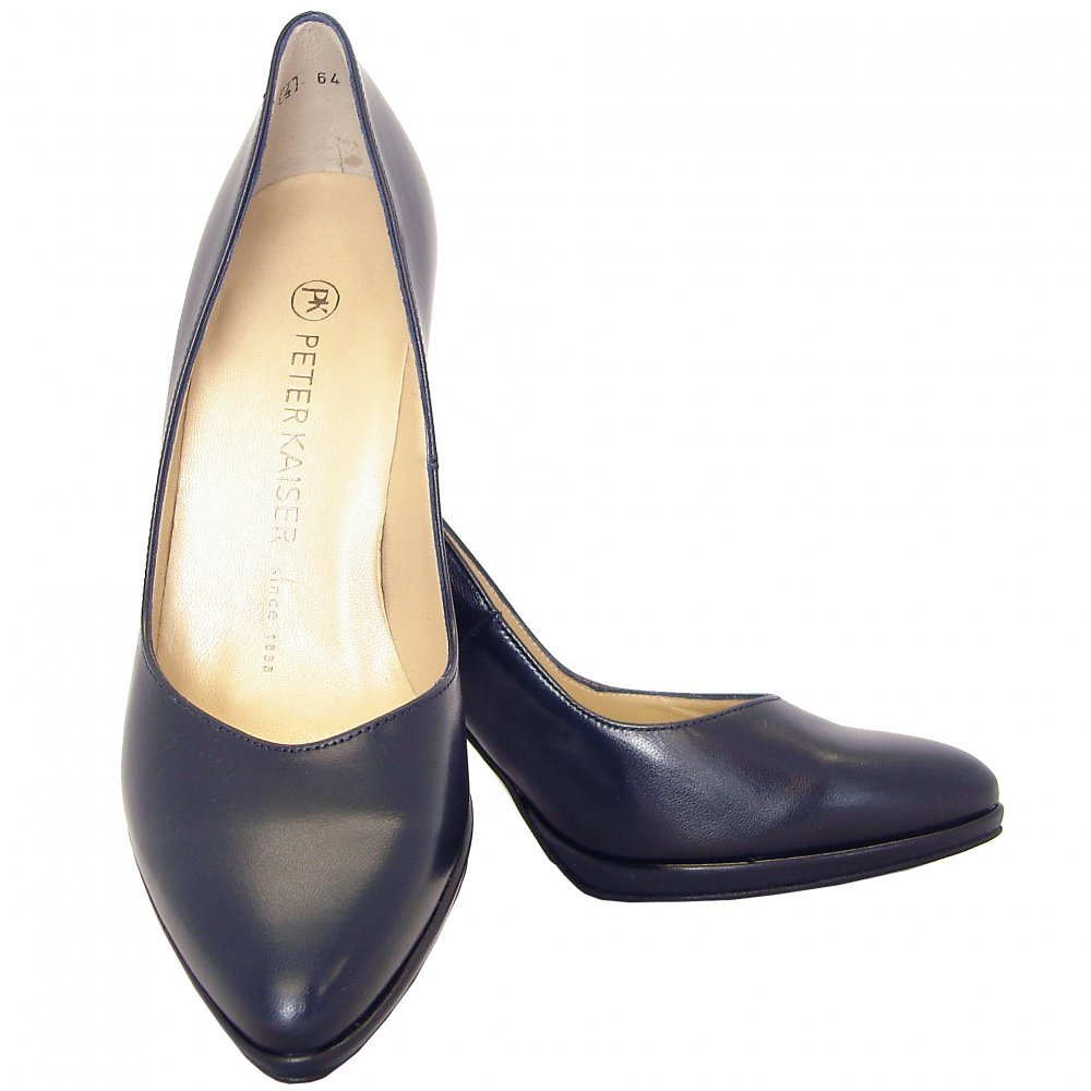 kaiser herdi navy leather court shoe mozimo