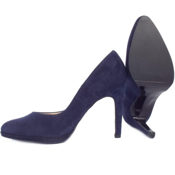 be13911c50053 Peter Kaiser Herdi | Women's Court Shoes in Navy Suede | Mozimo