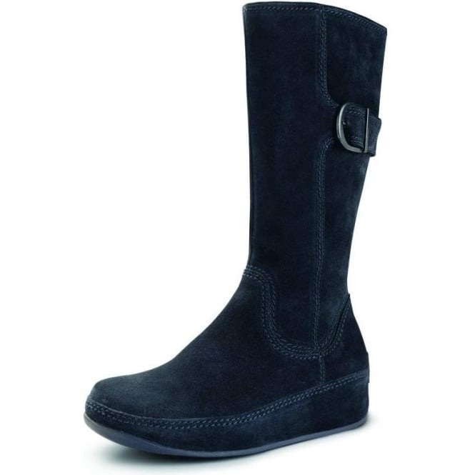 5aea31bd52d2 Hooper tall boot in blue nights suede