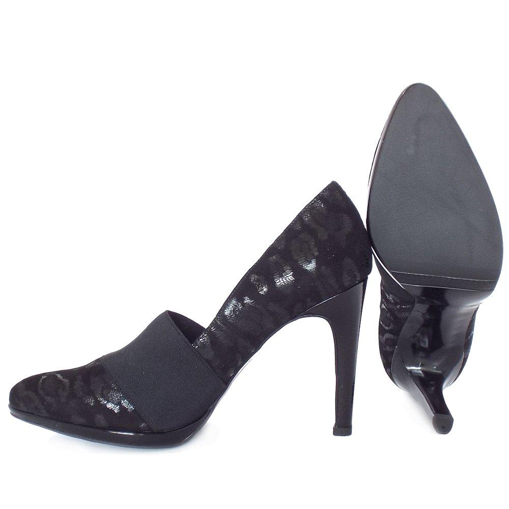 kaiser horta high heel court shoes in black