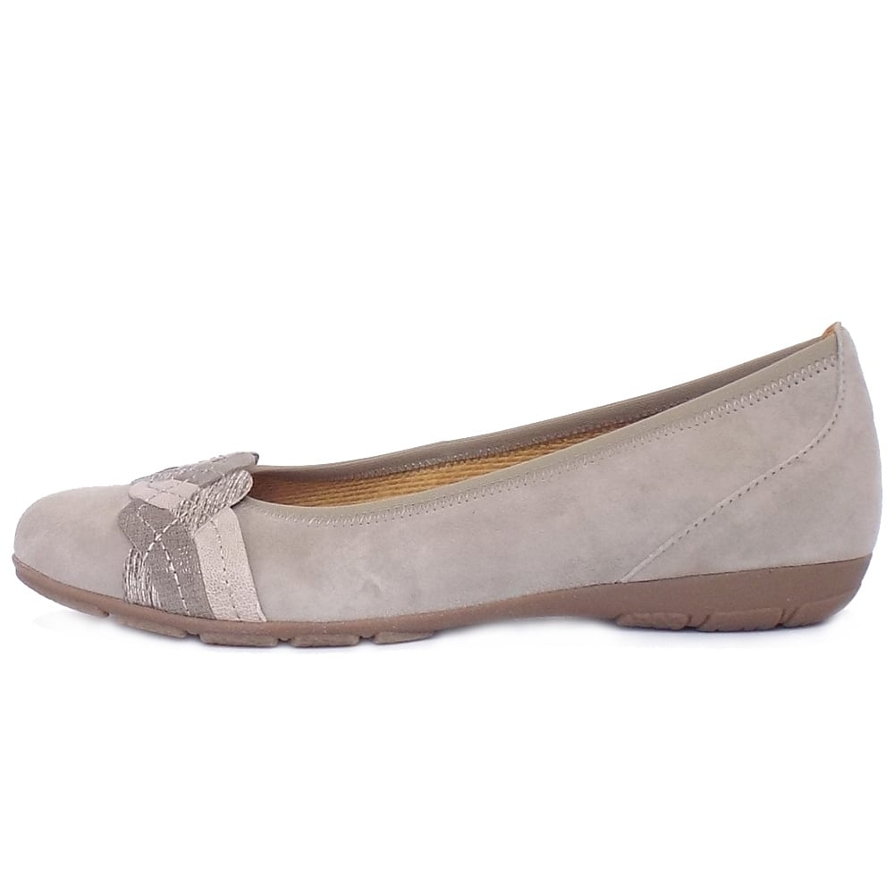 Women's Casual Sporty Pumps In Taupe Suede