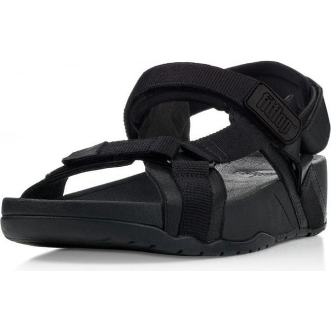 bd4fd689aa20 Fitflop - Mens Hyker Black Sandle from Mozimo