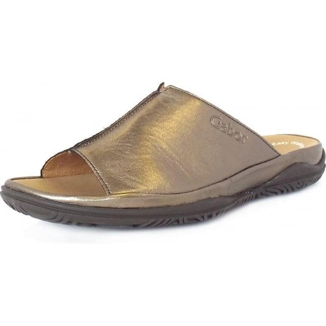 footwear first look new lifestyle Gabor Idol Ladies Wide Fit Mule Sandal in Pewter
