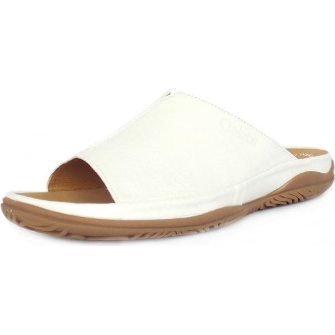 a4c803ca0c253d Idol Ladies Wide Fit Mule Sandal in White