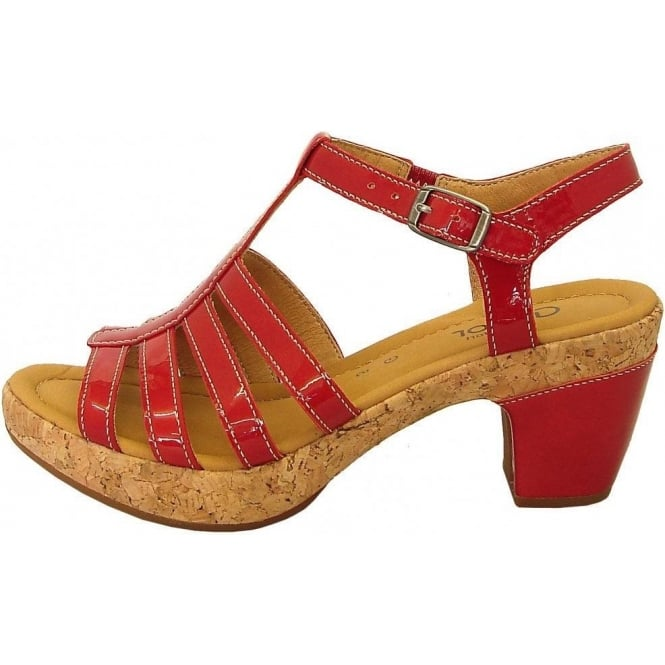 2095503826fa4 Gabor Shoes | Impression Womens Wide Fitting Sandal in Red | Mozimo
