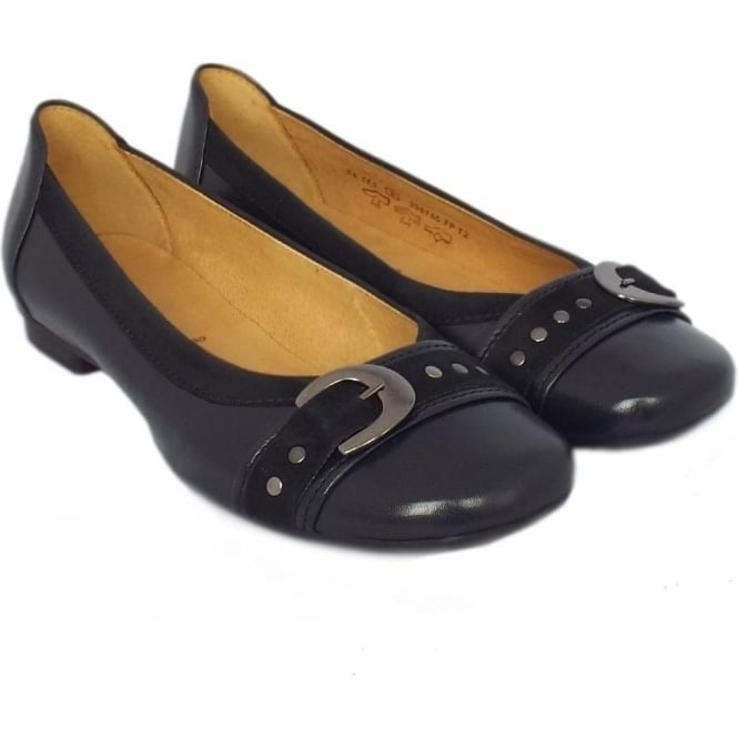 Gabor Indiana Casual Ballet Pumps in Navy