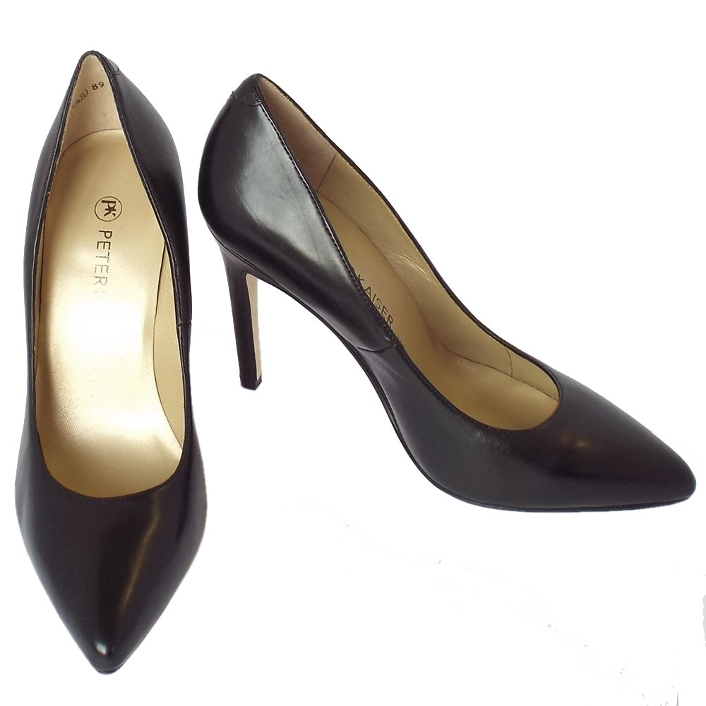 Peter Kaiser Indigo Ladies Black Leather High Heel Shoes