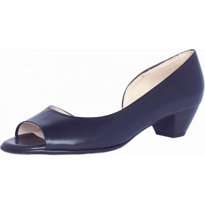 Peter Kaiser Itha Low Heel Open Toe Shoes in Navy