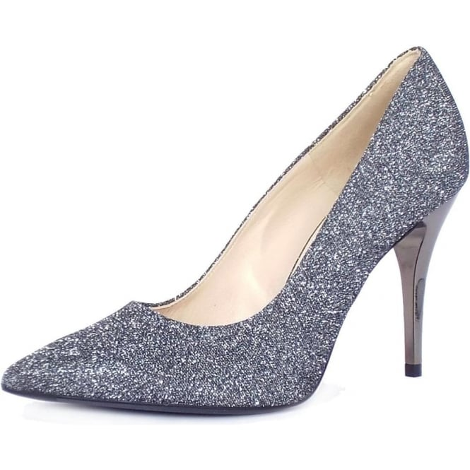 Peter Kaiser IVI Stiletto Court Shoe in Carbon shimmer