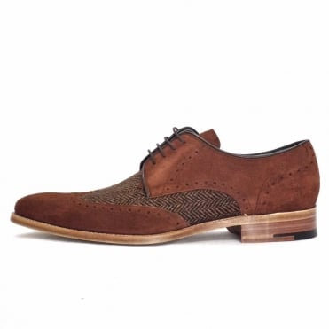 Jackson Men's Lace Up Suede and Tweed Shoes