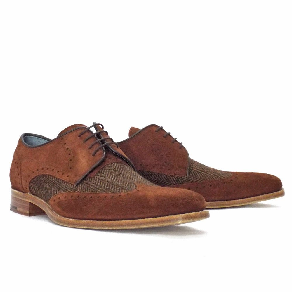 Barker Mens Shoes Jackson Lace Up Suede From Mozimo