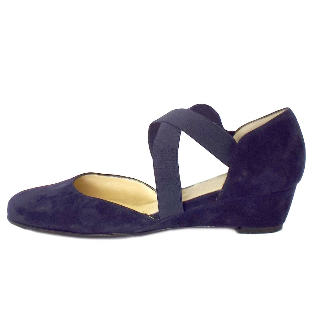 Sabie Navy Leather ladies-shoes large