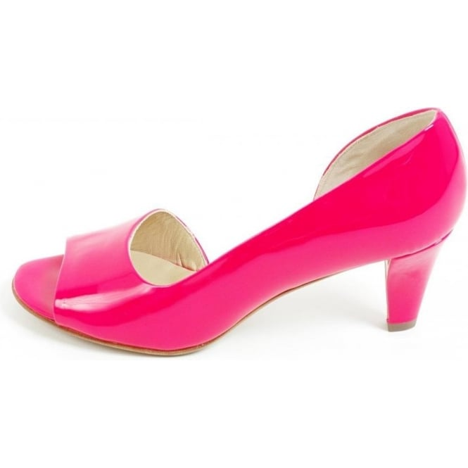 3f2e2800bbe4 Jamala open toe shoes in neon pink patent