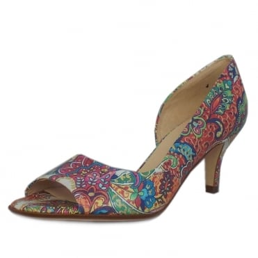 Jamala Women's Open Toe Shoes in Multi Paisli