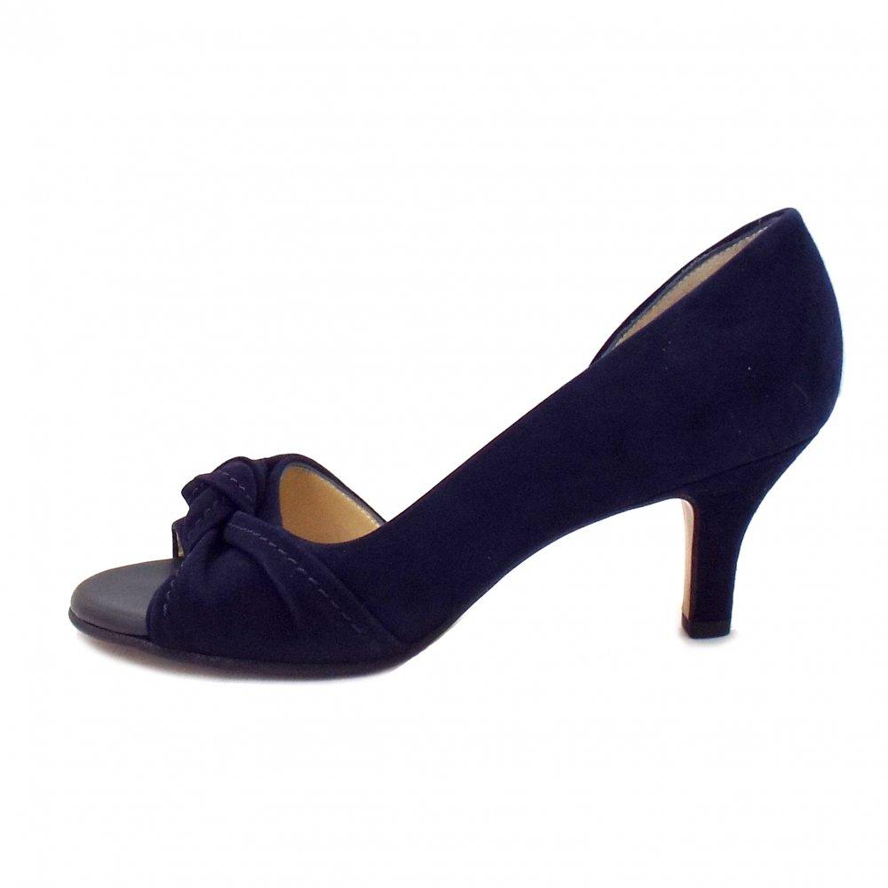 Ladies Navy Blue Suede High Heels