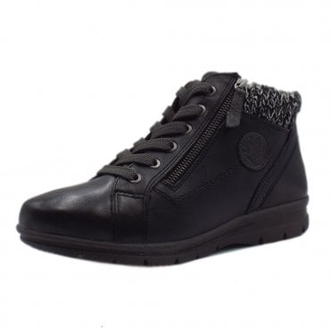 3bda5f4506a4 26205 Darwin Wide Fit Lace-up Ankle Boot in Black