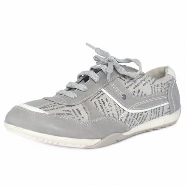 Jana Carmargue Women's Low Top Trainer Shoes in Grey