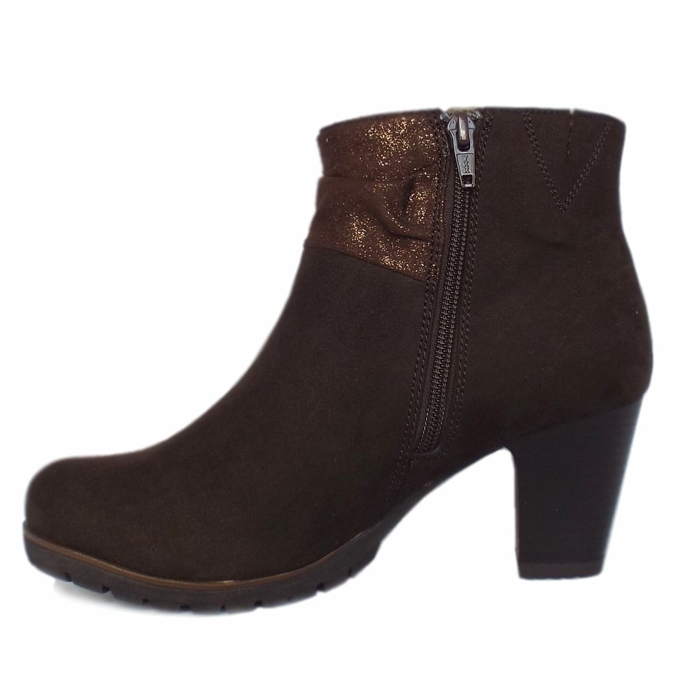 finest selection 41917 e1b81 Cassis Modern Sporty Mid Heel Ankle Boots in Mocca