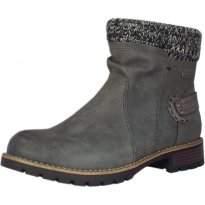 Jana Fosse Fashion Fleece Lined Ankle Boots in Graphite