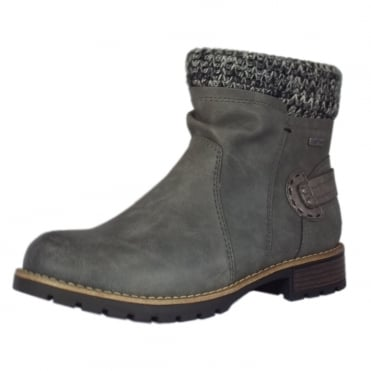 Fosse Fashion Fleece Lined Ankle Boots in Graphite