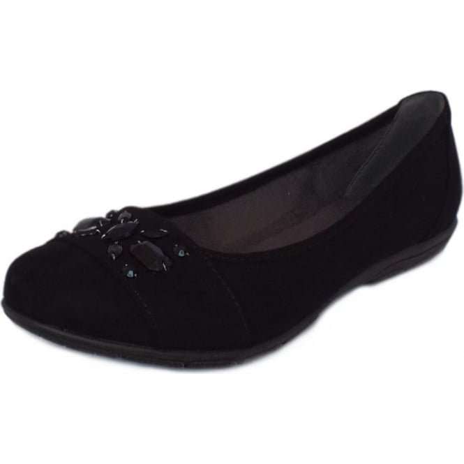 Jana Inchcape Women's Casual Wide Fit Pumps in Black