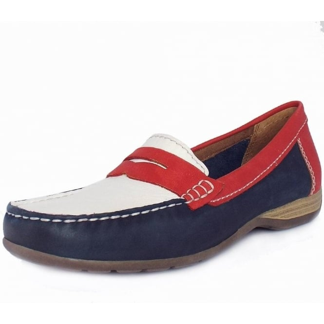 Jana Los Angeles Classic Wide Fit Nautical Style Loafers