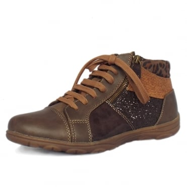 Marseille Sporty Winter Ankle Boots in Taupe