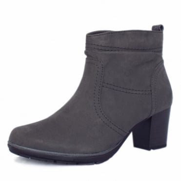 Milton Modern Sporty Mid Heel Ankle Boots in Graphite