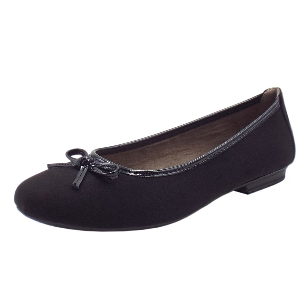 878cd965b8c Soft Line 22164 Carla Wide Fit Smart Ballet Shoes in Black Suede