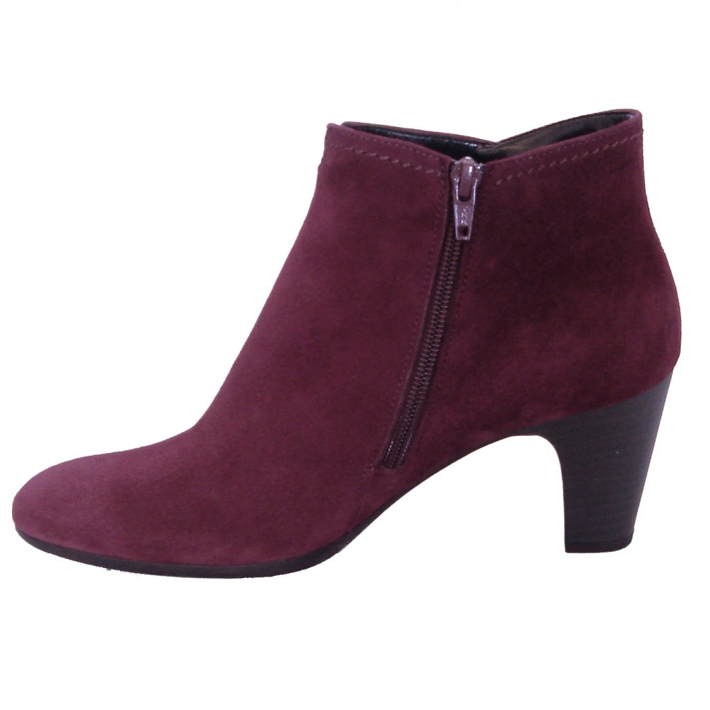 gabor boots jangle dressy ankle bot in purple mozimo