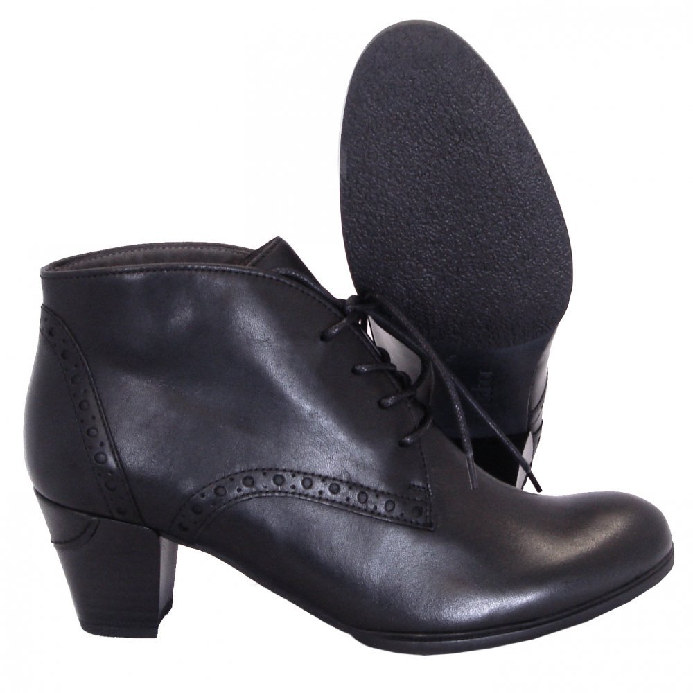 gabor shoes jayse womens lace up ankle boot in black