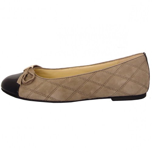 gabor shoes jill womens ballet pumps in taupe suede mozimo. Black Bedroom Furniture Sets. Home Design Ideas