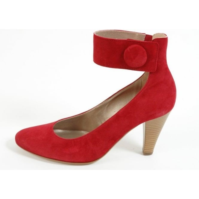 8c96810daecc1 Gabor Shoes Sale| Joanie Ladies Ankle Strap Shoe in Suede | Mozimo