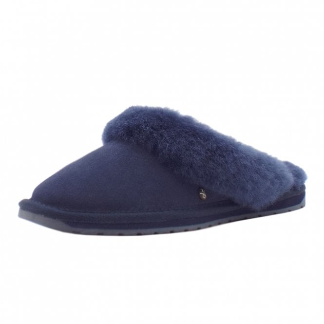 e3e1aeec23 EMU EMU Jolie Luxury Australian Ladies Suede Slippers in Midnight Navy
