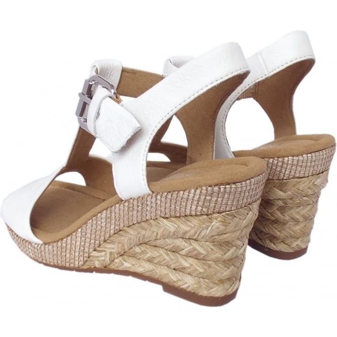 ebfa156359c Karen Women  039 s Modern Wedge Sandals in White Leather
