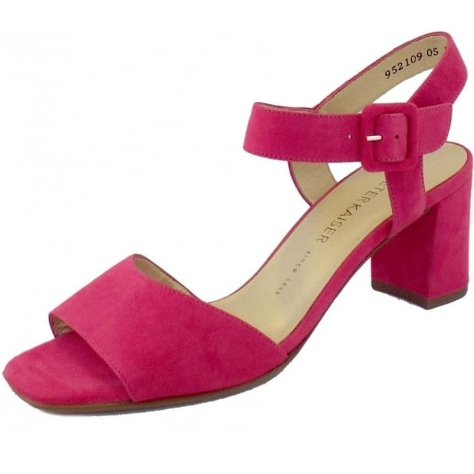 52a890aff Peter Kaiser Karima | Ladies Pink Suede Sandals | Mozimo
